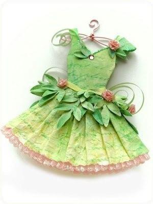 Moldes para hacer vestidos de papel para invitaciones (1)