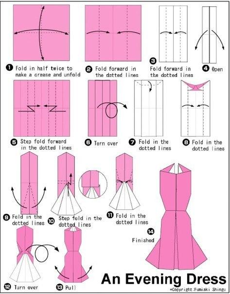 Moldes para hacer vestidos de papel para invitaciones (3)
