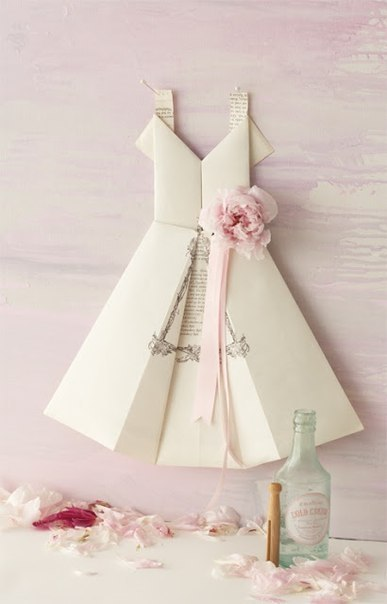 Moldes para hacer vestidos de papel para invitaciones (4)