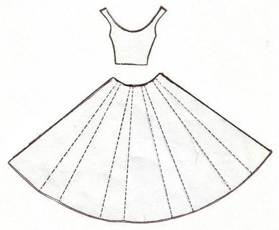Moldes para hacer vestidos de papel para invitaciones (7)