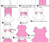 Moldes para hacer vestidos de papel para invitaciones