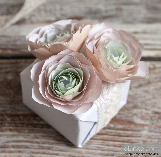Patron para hacer rosas de papel paso a paso (1)