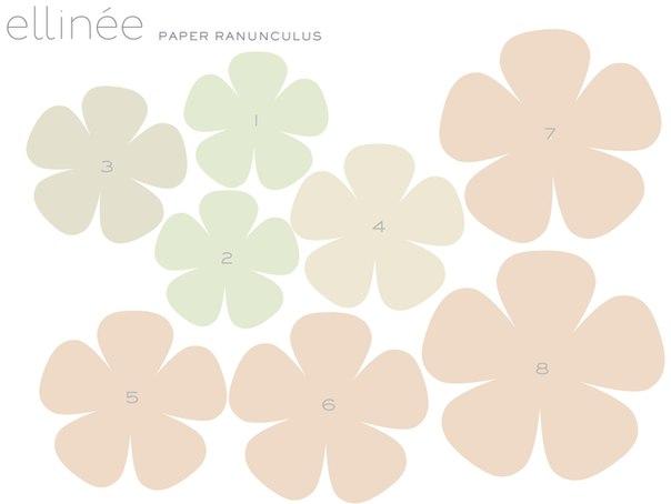Patron para hacer rosas de papel paso a paso (2)