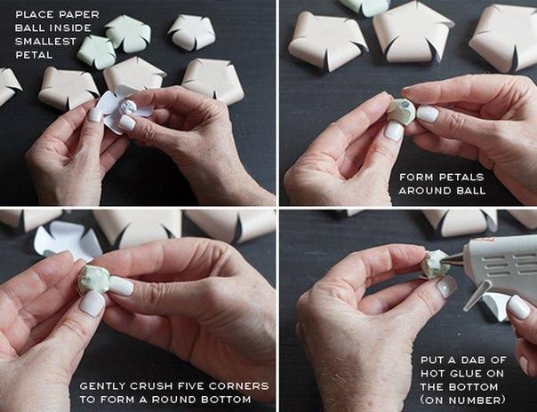 Patron para hacer rosas de papel paso a paso (4)