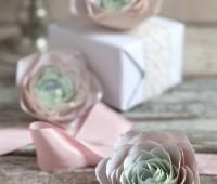 Patron para hacer rosas de papel paso a paso