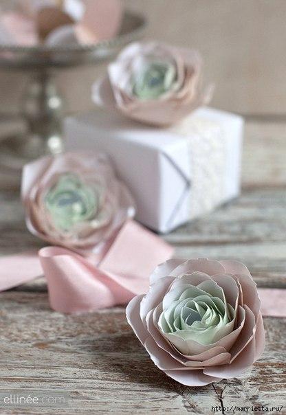 Patron para hacer rosas de papel paso a paso (7)