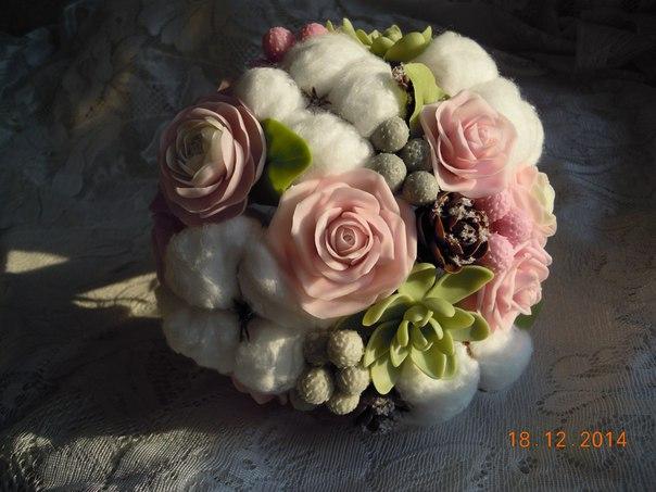 Ramos de boda de porcelana fría01