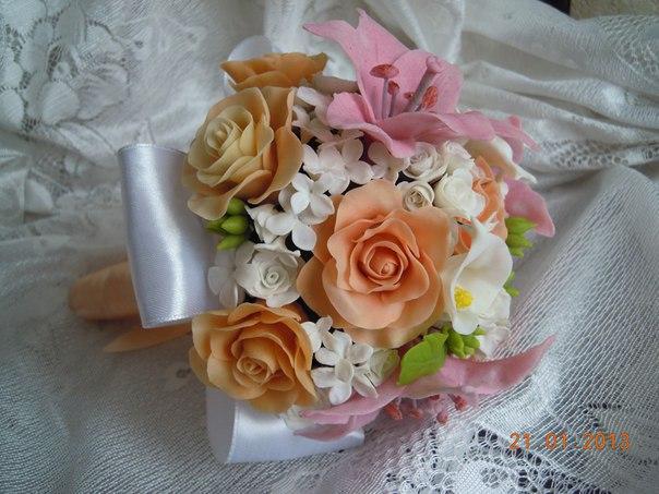 Ramos de boda de porcelana fría05