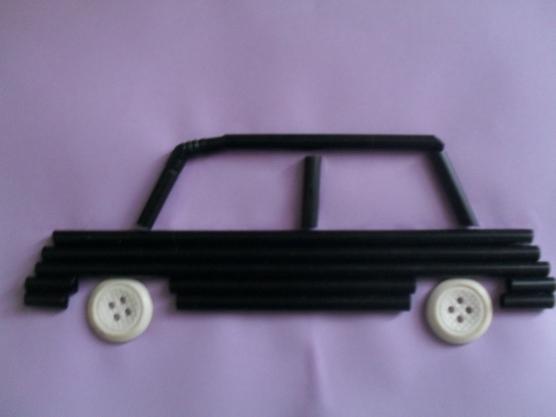 manualidades para el kinder carros con popotes01