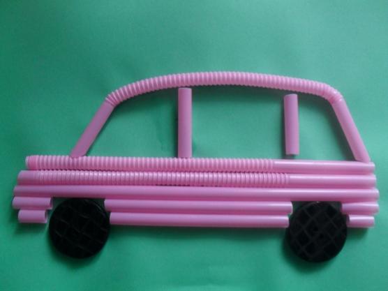 manualidades para el kinder carros con popotes05