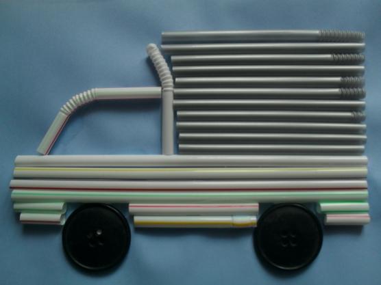 manualidades para el kinder carros con popotes06