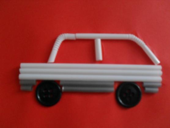 manualidades para el kinder carros con popotes07