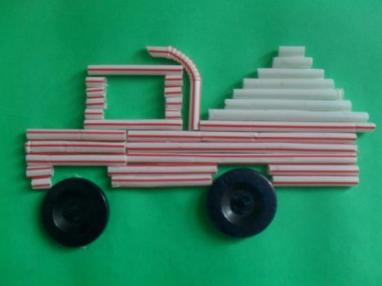 manualidades para el kinder carros con popotes08