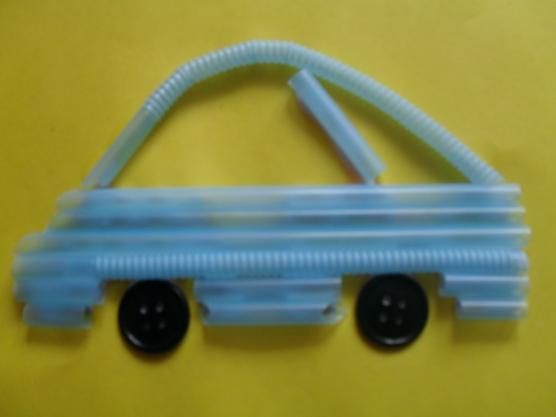 manualidades para el kinder carros con popotes09