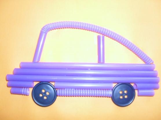 manualidades para el kinder carros con popotes11