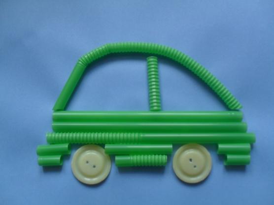 manualidades para el kinder carros con popotes12