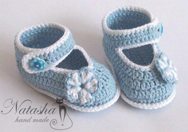 moldes para elaborar zapatitos en crochet07