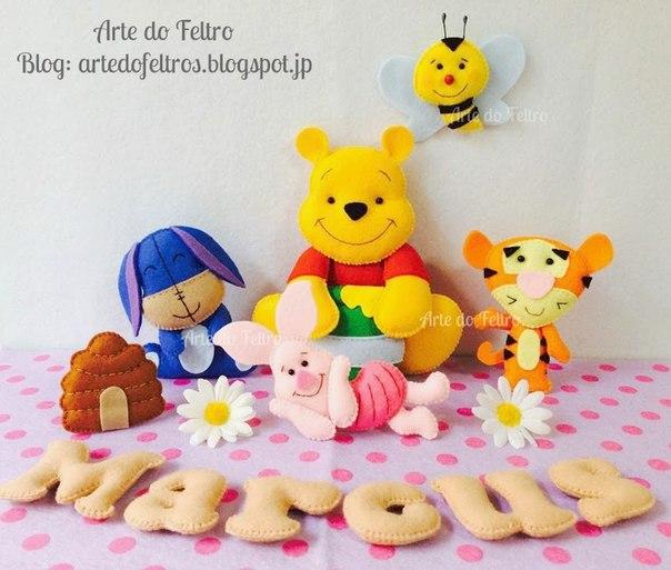 moldes para hacer a winnie pooh en fieltro06