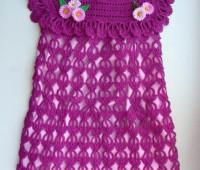 Vestido para niña tejidos a crochet con patron