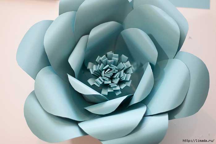 Como hacer Flores Grandes Paso a Paso Con Moldes4