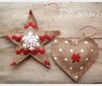 Como hacer adornos navideños con yute