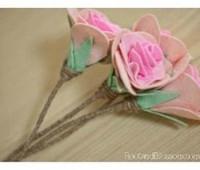 Como hacer flores de fieltro paso a paso