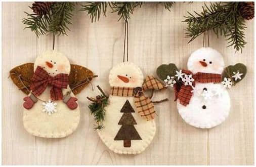 Ideas para hacer muñeco de nieve con fieltro gratis01