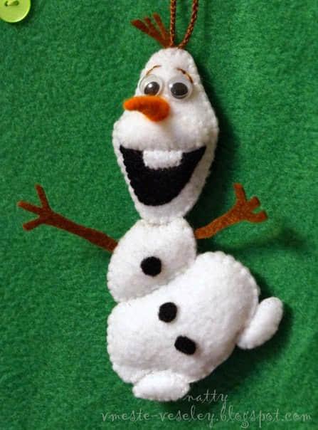 Ideas para hacer muñeco de nieve con fieltro gratis02