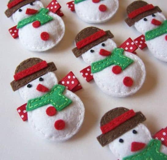 Ideas para hacer muñeco de nieve con fieltro gratis03