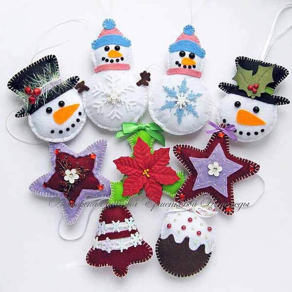 Ideas para hacer muñeco de nieve con fieltro gratis04