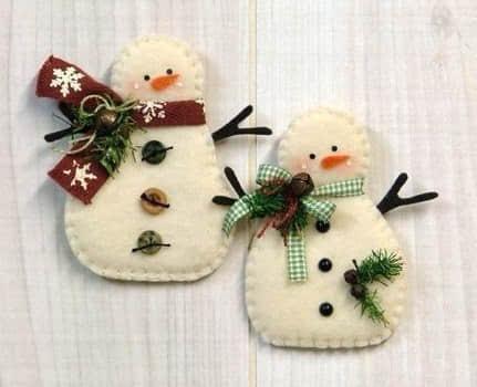 Ideas para hacer muñeco de nieve con fieltro gratis05