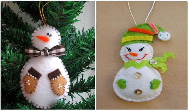 Ideas para hacer muñeco de nieve con fieltro gratis06