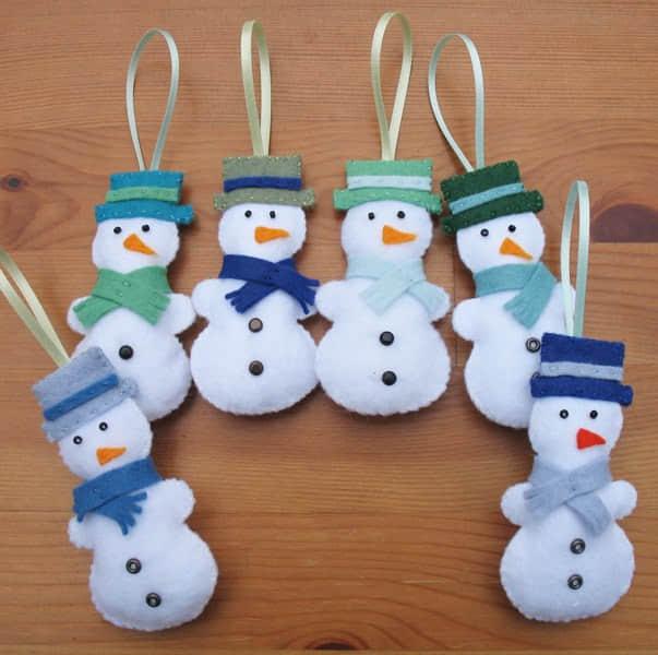 Ideas para hacer muñeco de nieve con fieltro gratis07