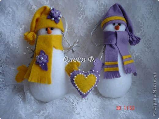 Ideas para hacer muñeco de nieve con fieltro gratis08
