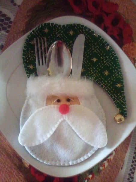 Molde para hacer porta cubiertos navideños7