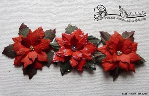 Molde para hacer una flor de noche buena gratis04
