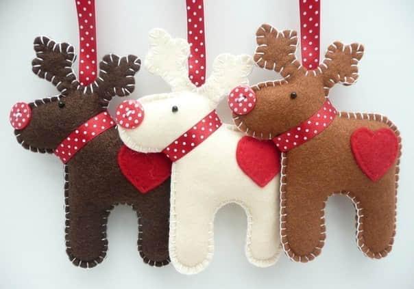 Moldes colgantes navideños de fieltro para imprimir gratis01