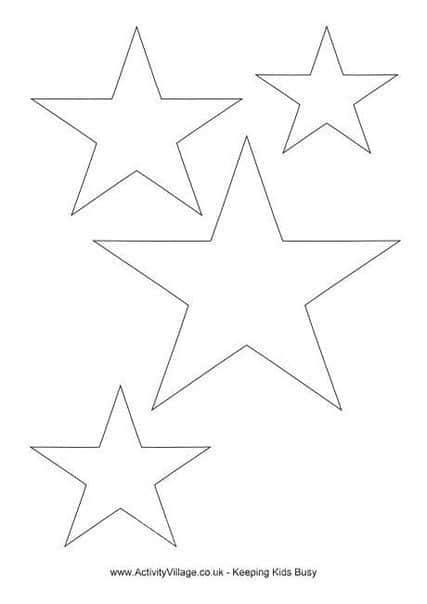 Moldes estrellas navideñas para imprimir gratis03
