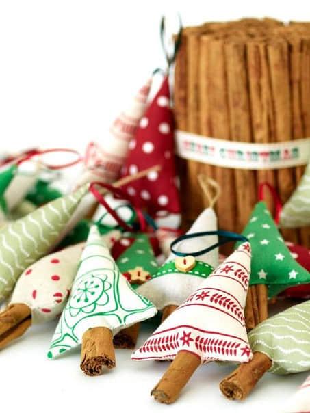 Moldes para hacer arbolitos navideños de fieltro o tela para imprimir gratis1
