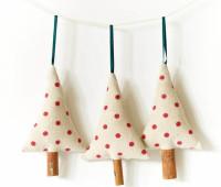 Moldes para hacer arbolitos navideños de fieltro o tela para imprimir gratis