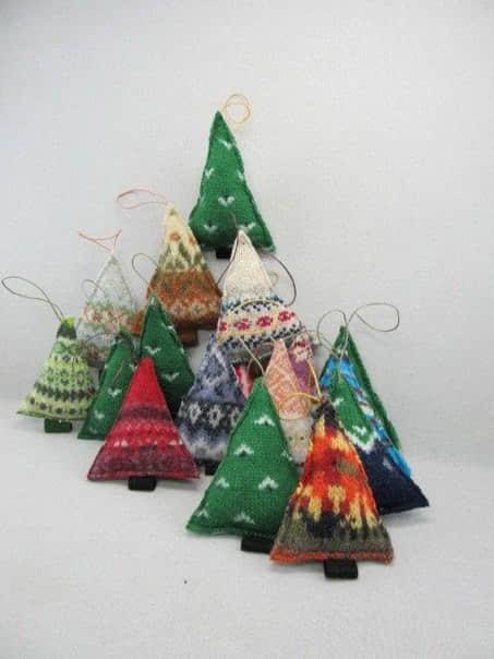 Moldes para hacer arbolitos navideños de fieltro o tela para imprimir gratis5