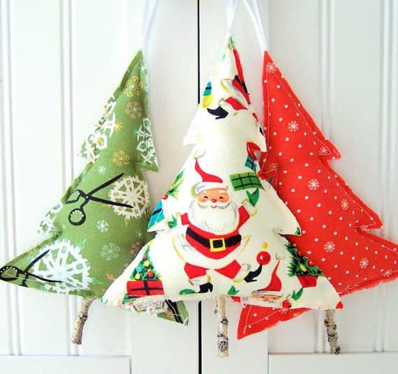 Moldes para hacer arbolitos navideños de fieltro o tela para imprimir gratis7