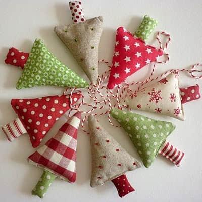 Moldes para hacer arbolitos navideños de fieltro o tela para imprimir gratis9