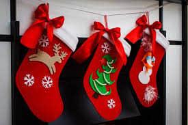 Moldes para hacer botas navideñas de fieltro gratis02