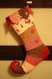 Moldes para hacer botas navideñas de fieltro gratis14