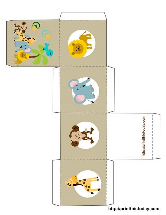Moldes para hacer cajitas para recuerdos de Baby Shower10
