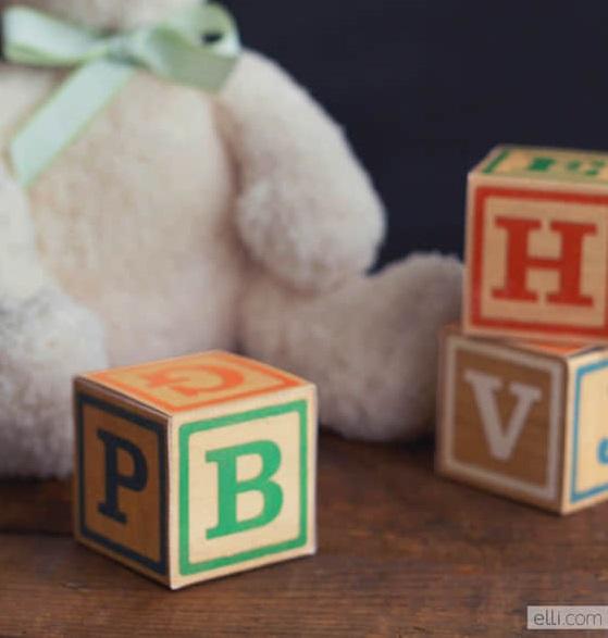 Moldes para hacer cajitas para recuerdos de Baby Shower11