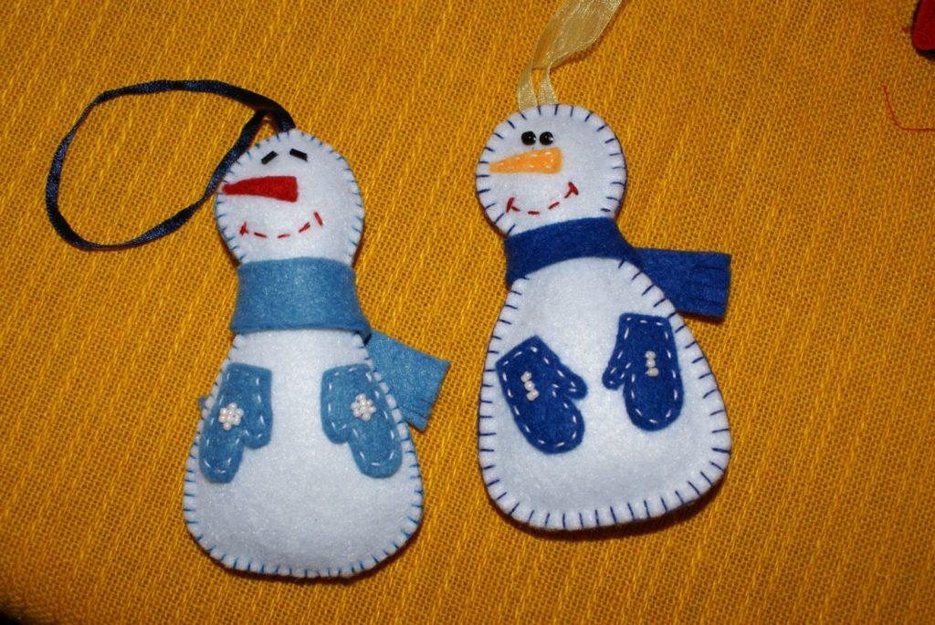 Moldes para hacer muñecos de nieve en fieltro01