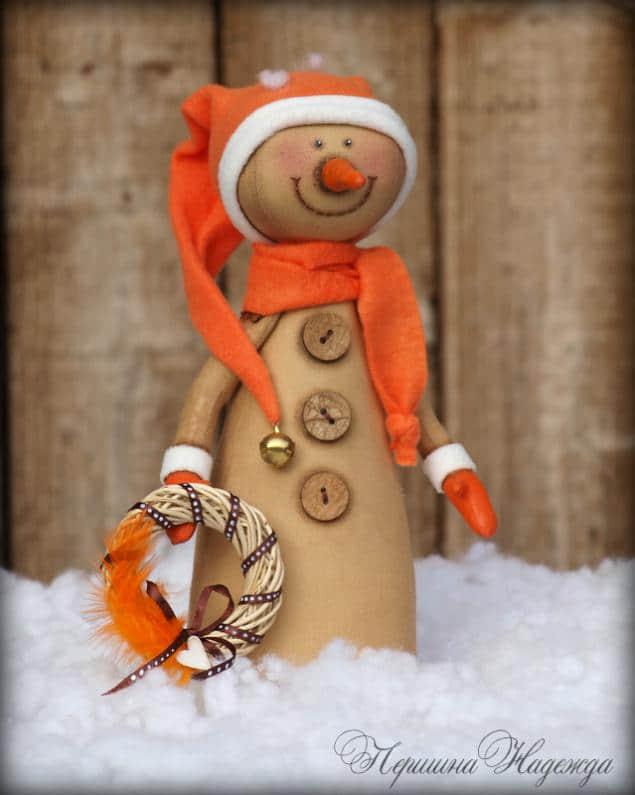 Moldes y Patrones de muñecos de nieve country en tela02