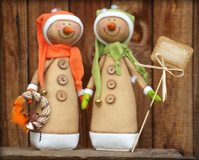 Moldes y Patrones de muñecos de nieve country en tela04